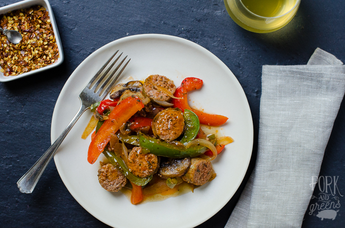 Quick Sausage & Peppers